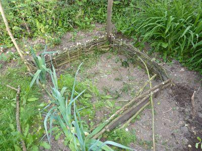 Mon jardin le 28 avril 2010, le début du premier carré