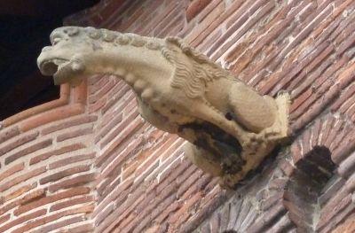 Toulouse, musée Saint-Raymond, façade postérieur, gargouille 1