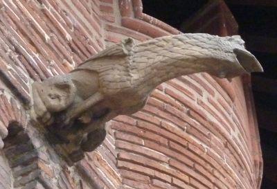Toulouse, musée Saint-Raymond, façade postérieur, gargouille 4