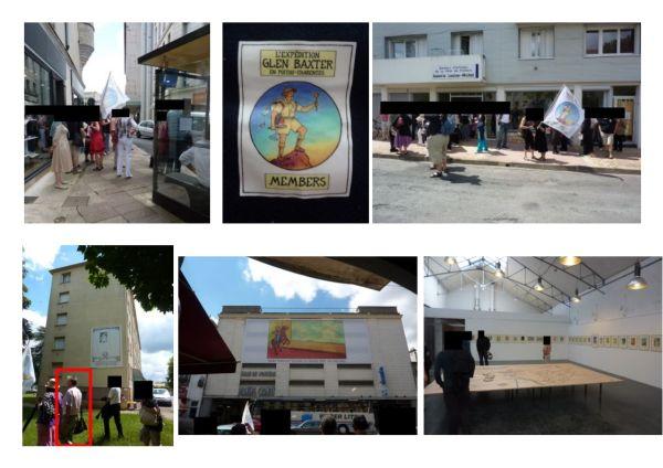 L'expédition Glen Baxter, le 12 juin 2010 à Poitiers, en images, du centre-ville à Bellejouane et retour en ville