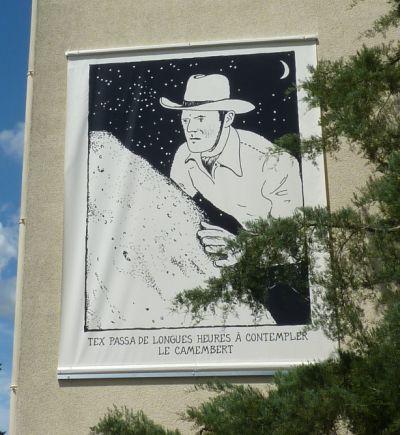 Glen Baxter à Poitiers en été 2010, quartier de Bellejouanne, vue 8