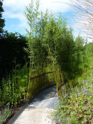 Chaumont-sur-Loire, festival des jardins 2010, le jardin n° 3, Ma terre, Mater, un tunnel vert