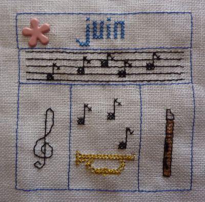 En juin, j'suis musicien, le SAL de petite fée Nougat terminé