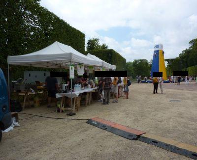 Poitiers, Bienvenue à la ferme 2010 dans le parc de Blossac, le stand de grillade