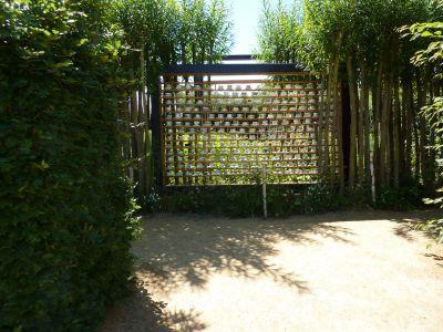 Chaumont-sur-Loire, festival 2010, le jardin 16, l'entrée