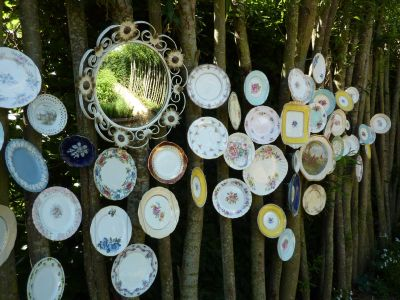 Chaumont-sur-Loire, festival 2010, le jardin 16, les assiettes