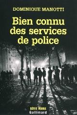 Couverture de bien connu des services de police, de Manotti