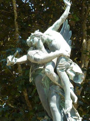 Niort, Gloria Victis de Mercié, vue de face, le groupe sculpté
