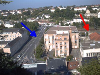 Le quartier Pont Achard à Poitiers, position des tours