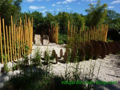 Chaumont-sur-Loire, festival 2010, le jardin 12, vue 2 : les chaises longues