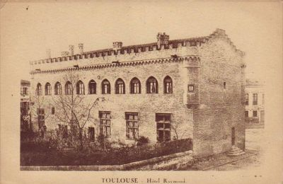 Toulouse, musée Saint-Raymond, façade antérieure, carte postale ancienne