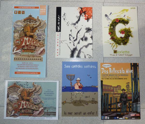 Les cartes à publicité envoyées en août 2010 par Véro bis