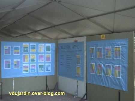 Stand de l'association Valentin Apac à la journée des associations le 14 septembre 2008