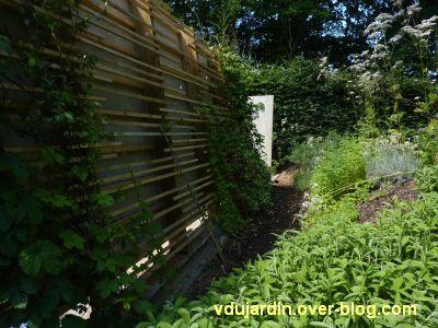 Chaumont-sur-Loire, festival 2010, le jardin 10, vue 2, le revers