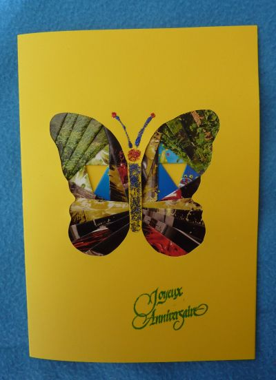 Carte papillon en iris folding pour Anne-Lise