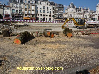Poitiers, coeur d'agglo, 3 septembre 2010, 17h15, vue 4, troncs abattus