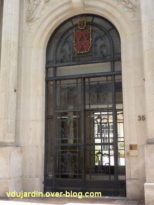 Poitiers, la grille de l'ancienne chambre de commerce