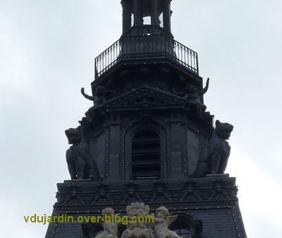 Poitiers, façade de l'hôtel de ville, 02, le beffroi en métal