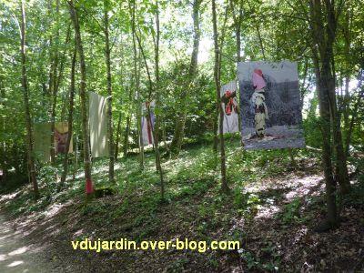 Chaumont-sur-Loire, festival 2010, colorès, 1, les photos d'arbres à loques