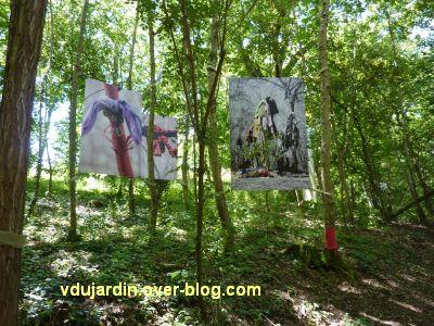 Chaumont-sur-Loire, festival 2010, colorès, 2, les photos d'arbres à loques