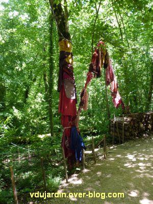 Chaumont-sur-Loire, festival 2010, colorès, 4, arbres à loques