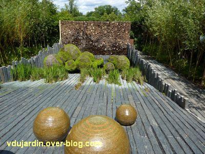 Chaumont-sur-Loire, festival 2010, le jardin 24, vue 4, vers l'entrée