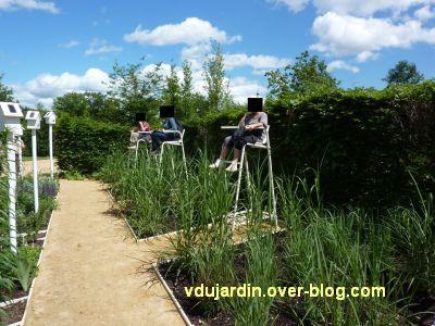 Chaumont-sur-Loire, festival 2010, le jardin 18, 4, les arbitres des oiseaux