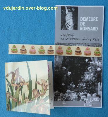 Envoi de Véro Bis, septembre 2010, 2, cartes et ruban gourmand