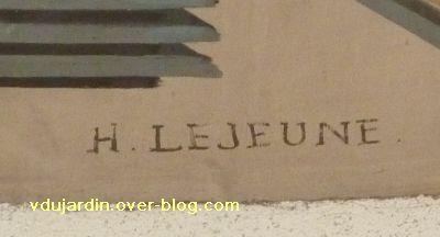 Poitiers, les peintures de l'ancienne chambre de commerce de Poitiers, 1, la signature de Lejeune