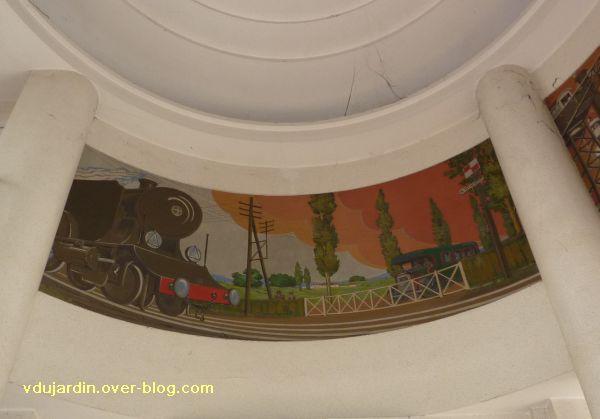 Poitiers, les peintures de l'ancienne chambre de commerce de Poitiers, 2, le panneau gauche