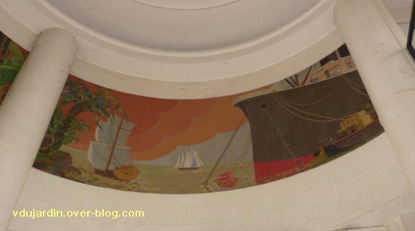 Poitiers, les peintures de l'ancienne chambre de commerce de Poitiers, 4, le panneau droit