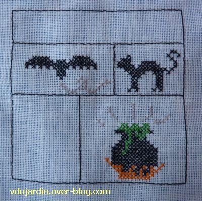 SAL octobre de Petite Fée Nougat,quatrième étape, un chat noir