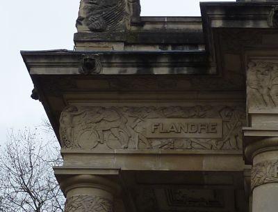 Toulouse, le monument morts de Haute-Garonne, Abbal, la Flandre