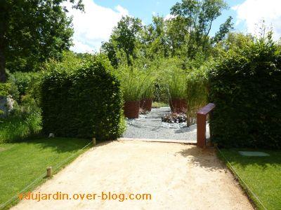 Chaumont-sur-Loire, festival 2010, le jardin 22, 1, l'entrée