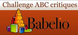 Logo du challenge ABC critique de Babelio
