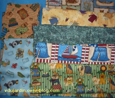 Exposition de Magnac 2010, 5, mes achats de tissu