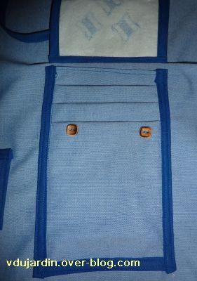 Moncoutant salon 2010, le tablier, détail de la poche multiple pour cartonnettes