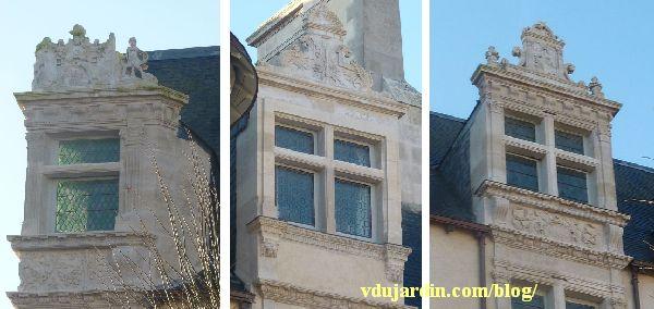 L'hôtel Jean Beaucé après restauration, en janvier 2014, les trois lucarnes