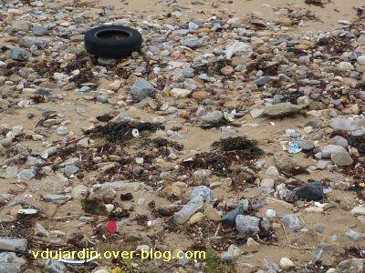 Les Sables-d'Olonne, 13-14 novembre 2010, 7, déchets sur la plage