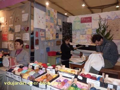 Salon Créativa à Strasbourg en 2010, le stand de défi de toile