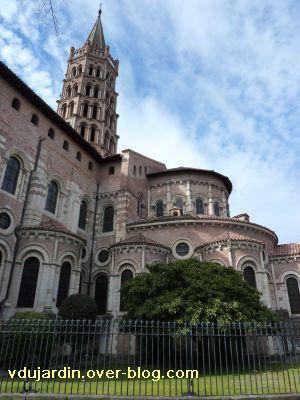 Toulouse, Saint-Sernin, le chevet vu du sud