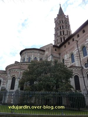 Toulouse, Saint-Sernin, le chevet vu du nord