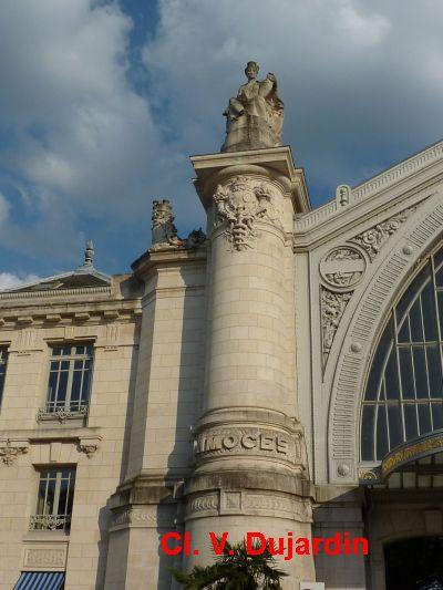 Tours, la gare, allégorie de Limoges, 1, la colonne