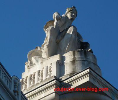 Tours, la gare, allégorie de Nantes, 3, profil droit