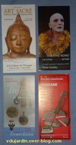 Envoi de Capucine O en décembre 2010, cartes à publicité, 1, grands formats