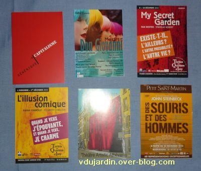 Envoi de Capucine O en décembre 2010, cartes à publicité, 2, colorées