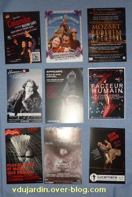 Envoi de Capucine O en décembre 2010, cartes à publicité, 3, en noir