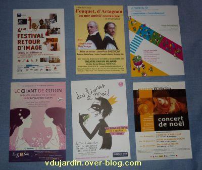 Envoi de Capucine O en décembre 2010, cartes à publicité, 4, en blanc
