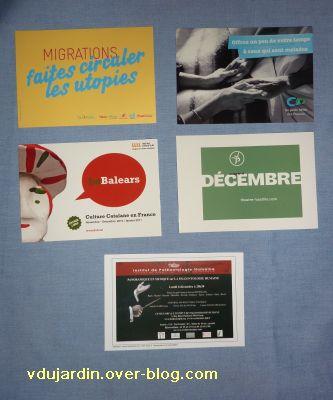 Envoi de Capucine O en décembre 2010, cartes à publicité, 5, horizontales