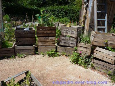 Chaumont-sur-Loire, festival 2010, le jardin 20, 04, des cageots potagers